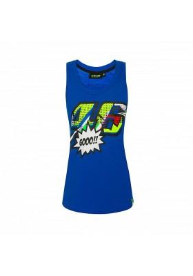 VRWTT352316 TANK TOP WOMAN BLUE TURQUOISE POP ART
