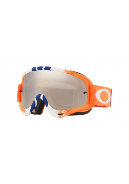 OAKL NEW O-FRAME MX PINNED ORANGE BLUE BLACK ICE IRID (7129-42)