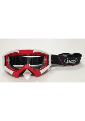 SHOEI MX GOGGLE RED BETTER RIDING CROWS