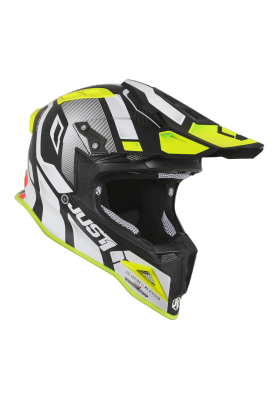 JUST1 HELMET J12 VECTOR WHITE FLUO YELLOW CABON