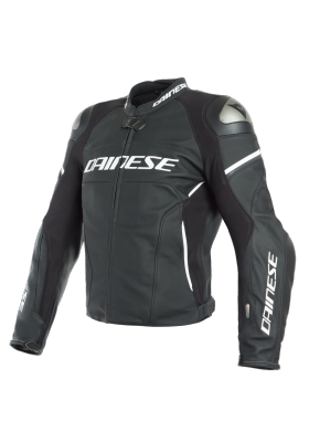 RACING 3 D-AIR LEATHER JACKET 22A BLACK MATT WHITE