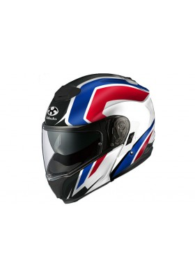 KABUTO IBUKI STRIPE WBR MODULAR BLUE WHITE RED