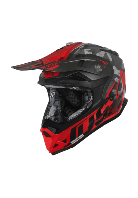 JUST1 HELMET J32 PRO SWAT CAMO RED FLUO