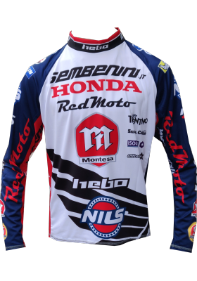 MAGLIA HEBO RACE TEAM MONTESA SEMBENINI 2019 BLUE RED TRIAL