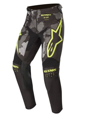 ALPINES. RACER TACTICAL PANTS 1154 BLACK GREEN CAMO YELLOW (3721220)