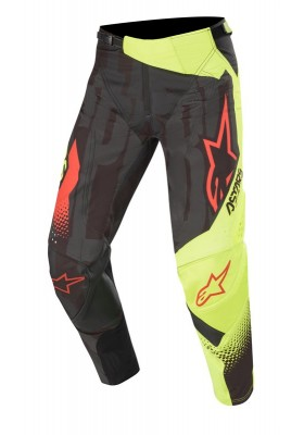ALPINES. TECHSTAR FACTORY PANTS 1538 BLACK YELLOW FLUO RED (3721020)