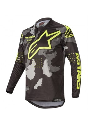 ALPINES. RACER TACTICAL JERSEY 1154 BLACK GRAY CAMO YELLOW FLUO (3761220)