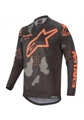 ALPINES. RACER TACTICAL JERSEY 1144 BLACK GRAY CAMO ORANGE FLUO (3761220)