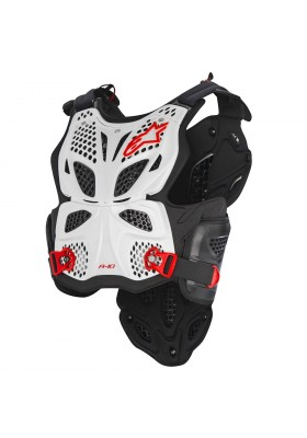 A-10 CHEST PROTECTOR 213 BLACK WHITE RED