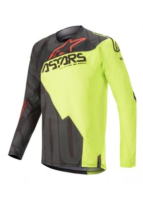 ALPINES. TECHSTAR FACTORY JERSEY 1538 BLACK YELLOW FLUO RED (3761020)