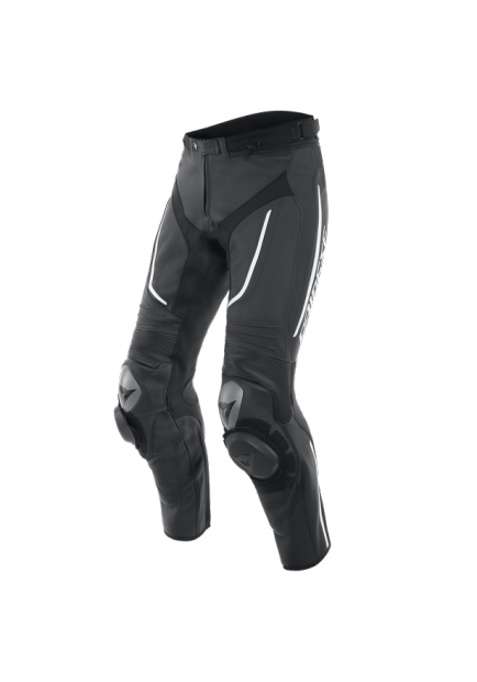 ALPHA PERF. LEATHER PANTS 948 BLACK BLACK WHITE