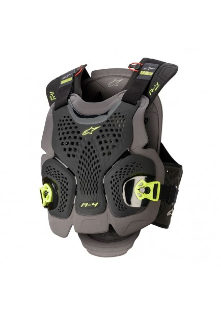 A-4 MAX CHEST PROTECTOR 1155 BLACK YELLOW
