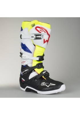ALPINES. TECH 7 (257) WHITE YELLOW FLUO BLUE