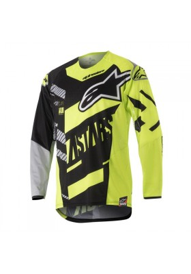 ALPINES. YOUTH RACER SCREAMER JERSEY 1511 BLACK YELLOW FLUO GRAY (3770518)