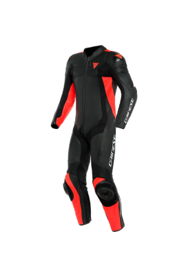 ASSEN 2 1 PC PERF. SUIT P75 BLACK FLUO-RED