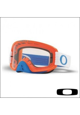 OAKL 7068-36 NEW O2 MX BLUE ORANGE CLEAR + DARK VISOR