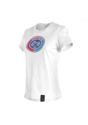 T-SHIRT MOTO 72 LADY 003 WHITE