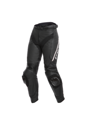 DELTA 3 PERF. LADY LEATHER PANTS 948 BLACK WHITE