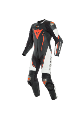 MISANO 2 D-AIR PERF. 1PC SUIT N32 BLACK WHITE FLUO-RED
