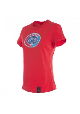 T-SHIRT MOTO 72 LADY 002 RED