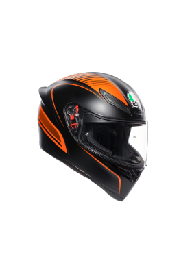 K1 AGV MULTI 002 WARMUP MATT BLACK ORANGE