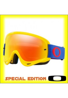 OAKL 7129-46 NEW O-FRAME MX YELLOW BLUE FIRE IRID
