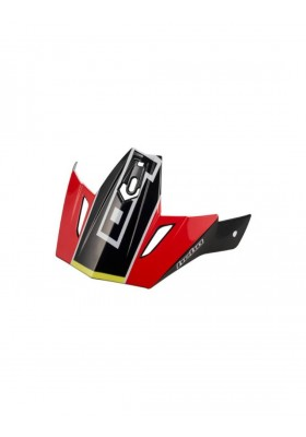 HCR1037R VISOR PEAK ZONE 4 CARBON POL RED