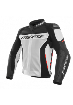 RACING 3 PERF. LEATHER JACKET 777 WHITE BLACK RED