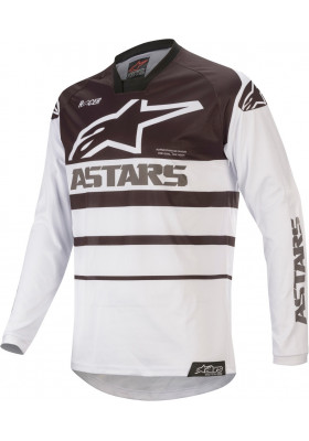 ALPINES. RACER SUPERMATIC JERSEY 21 WHITE BLACK