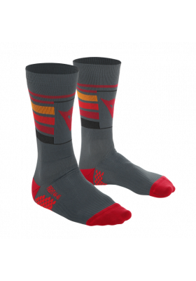 HG HALLERBOS SOCKS D12 DARK-GRAY RED