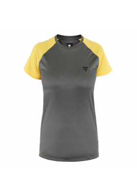 HG RAMLA SS WOMAN TEE 49D DARK-GRAY YELLOW