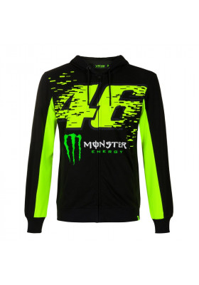 MOMFL397204 FLEECE HOODIE MAN VR46 BLACK MONSTER ENERGY