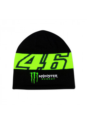 MOMBE398004 BEANIE VR46 BLACK MONSTER ENERGY