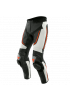 ALPHA PERF. LEATHER PANTS I96  WHITE BLACK FLUO RED