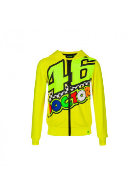 VRKFL393301 FLEECE VR46 KID HOODIE YELLOW