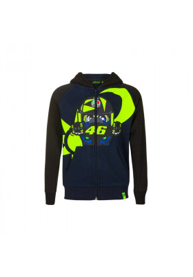 VRKFL393002 FLEECE VR46 KID HOODIE MOTINA BLUE