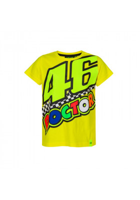 VRKTS393201 T-SHIRT KID VR46 YELLOW DOCTOR