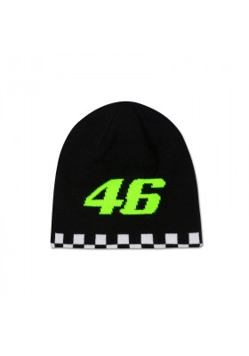 VRKBE393603 BEANIE KID VR46 DOUBLE SIDED BLACK