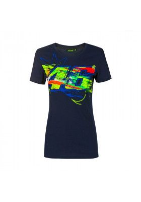 VRWTS392402 T-SHIRT WOMAN VR46 BLUE WINTER TEST