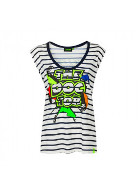 VRWTS392003NF T-SHIRT WOMAN VR46 STREET ART WHITE