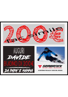 BUONO REGALO ONLINE 200 EURO