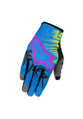 RACER BRAAP GLOVES 579 YELLOW CYAN MAGENTA