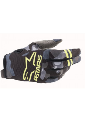 RADAR GLOVES 9155 GRAY CAMO YELLOW (3561821)