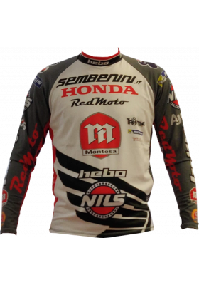 MAGLIA HEBO RACE TEAM MONTESA SEMBENINI 2020 GREY RED TRIAL