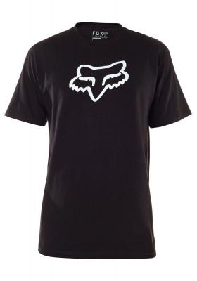 T-SHIRT FOX LEGACY HEAD SS TEE BLACK WHITE (24577-001)
