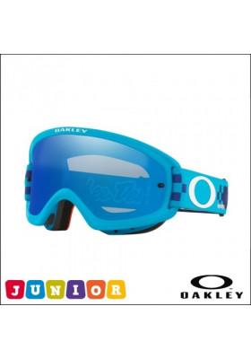 OAKL 7116-12 NEW O2 PRO XS MX TLD CHECKERBOARD BLUE BLUE IRIDIUM