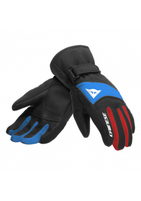 HP SCARABEO GLOVES JUNIOR 50F BLACK TAPS HIGH RISK RED LAPIS BLUE