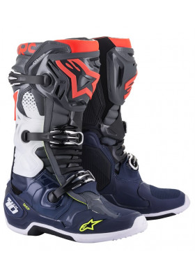 ALPINES. TECH 10 DARK GRAY DARK BLUE RED FLUO (9079)