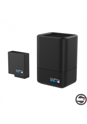 DUAL BATTERY CHARGER + BATTERY (HERO 9  BLACK)