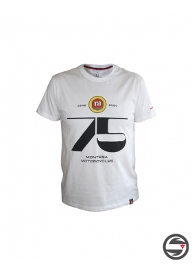 MT2004B T-SHIRT WHITE MONTESA 75TH ANNIVERSARY